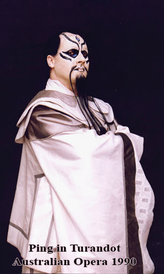 "Ping in Puccini's ""Turandot"" Australian Opera Production 1990"
