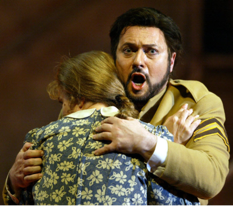 Don Josè in Carmen Act 1 with Nicole Youl (Micaela)