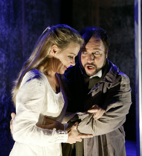 Duca in Rigoletto Act 2 with Henriette Bonde-Hansen (Gilda)